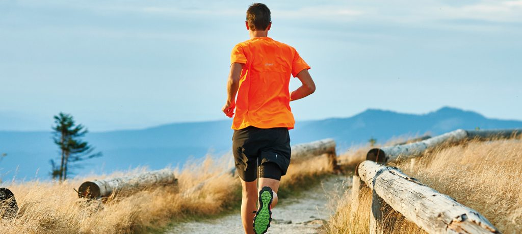 Läufer am Großen Arber